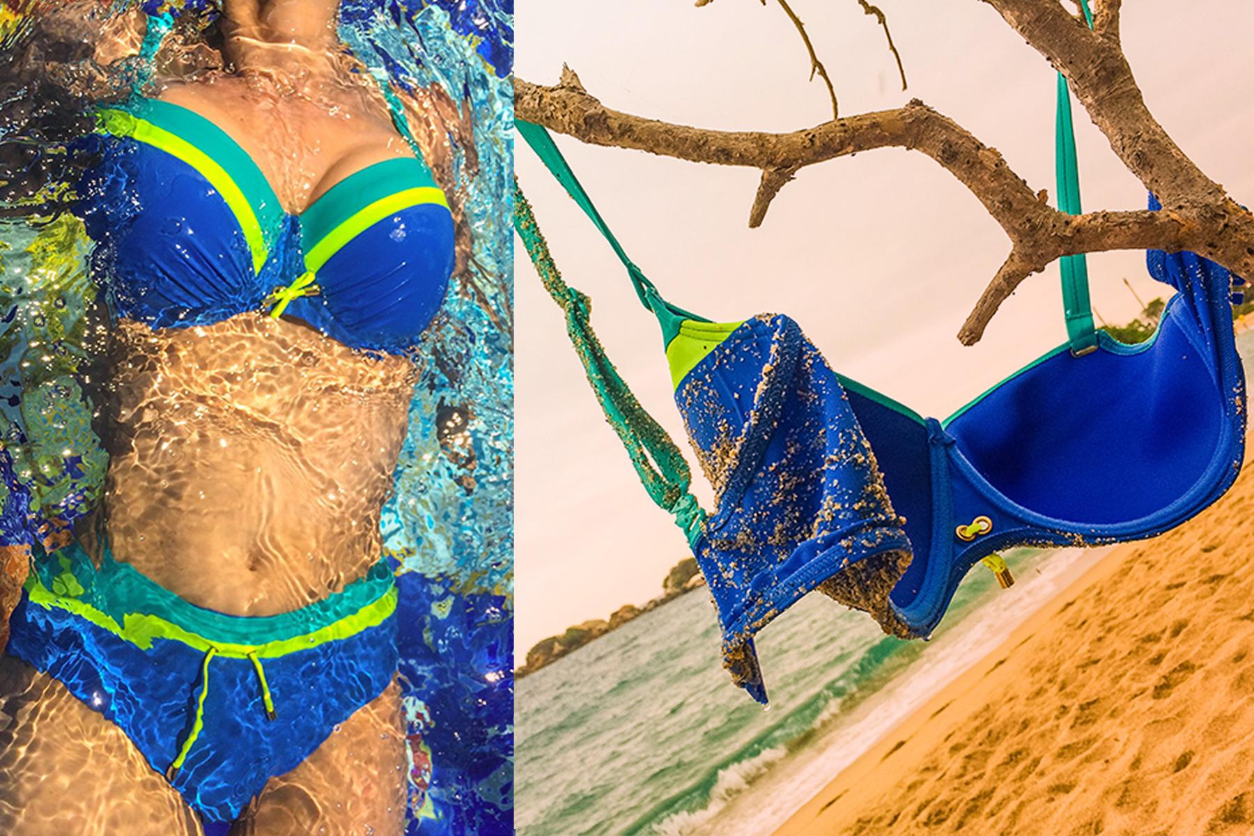 Frau im Bikini, Bikini am Strand